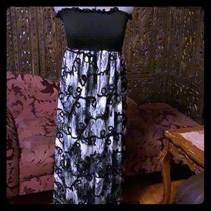 Elan Beach designer cruise wear strapless dress